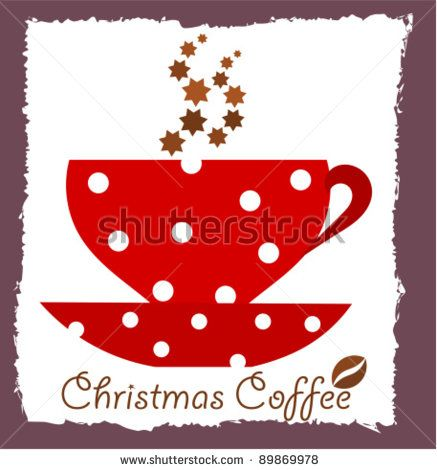 Christmas coffee. Vector illustration - stock vector