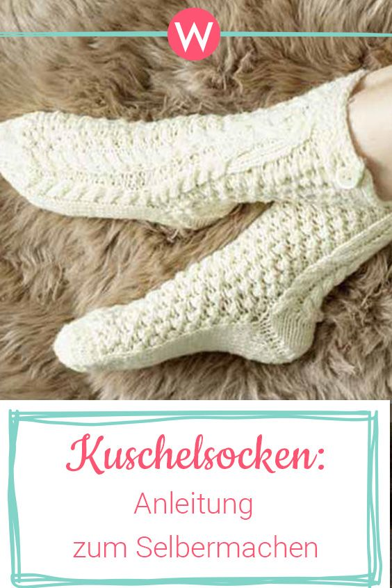 Warme Kuschelsocken stricken | Stricken & Häkeln | Pinterest ...