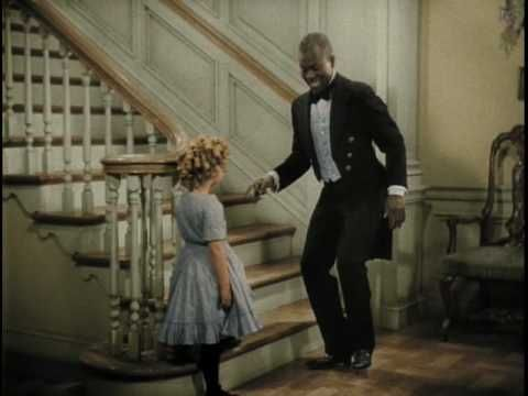 "The great Bill ""Bojangles"" Robinson and Shirley Temple in ""Little Colonel"".  Just one of many movies they made together.  Quite a team!"