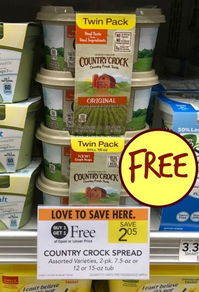 New Country Crock Coupon For The Publix BOGO – Get Them For FREE
