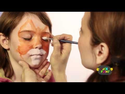 Fox Face Painting Tutorial