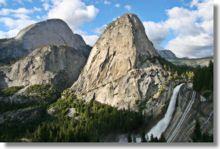 Yosemite National Park, top of Nevada Falls along the Panorama Trail.