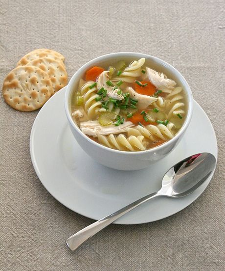 Chicken Soup Recipe - Quick and Easy Dinner Recipes | Staying in? Keep warm with some homemade chicken soup. Click through for the quickest (and easiest!) recipe ever. #refinery29 http://www.refinery29.com/chicken-soup-recipe