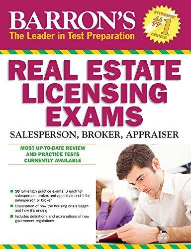 Barron's Real Estate Licensing Exams, 10th Edition (Barro... https://www.amazon.com/dp/1438007450/ref=cm_sw_r_pi_dp_D9UxxbC446K9K