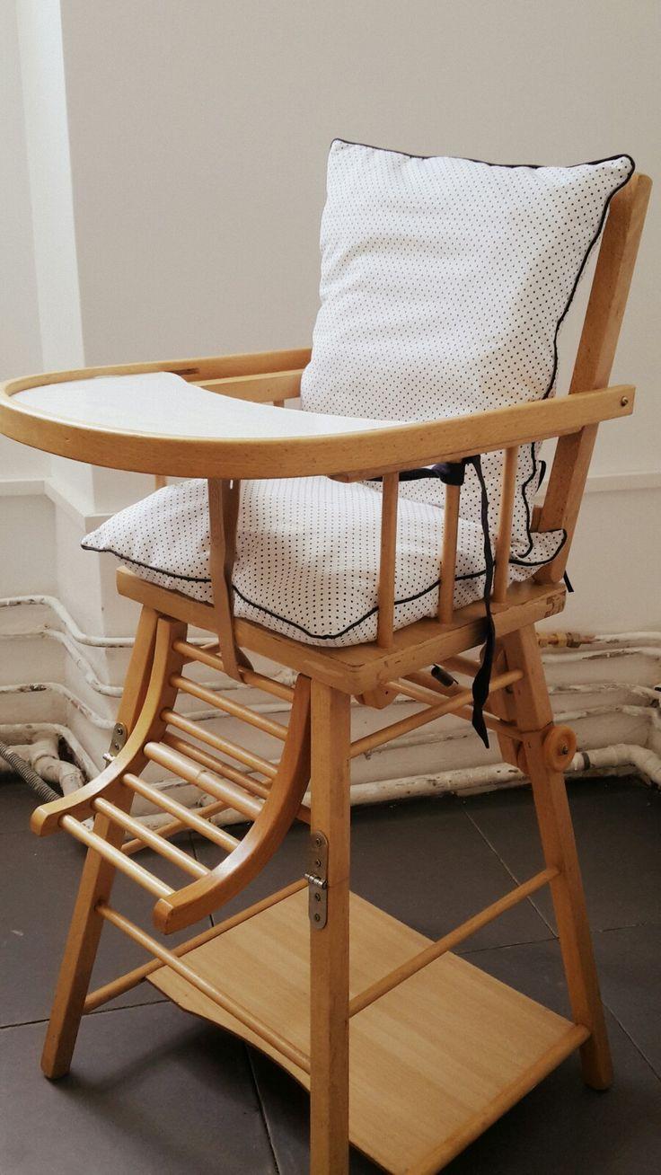 simple chaise haute combelle retape et coussin diy pour moins de euros with chaise pour table haute. Black Bedroom Furniture Sets. Home Design Ideas