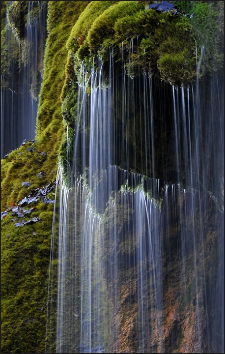 """Schleier fall"" (Veil Fall) in Southern Bavaria  Germany - by Dieter Biskamp I…"