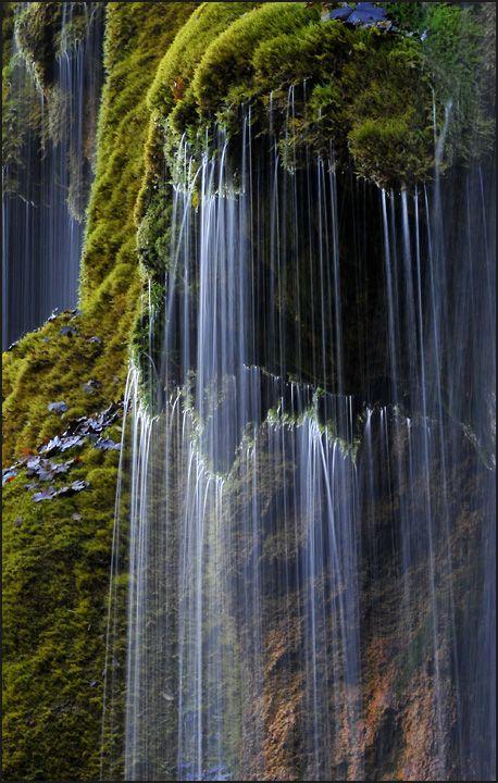 """""""Schleierfälle"""" (Veil Fall) near Oberammergau in Southern Bavaria, Germany - by Dieter Biskamp"""