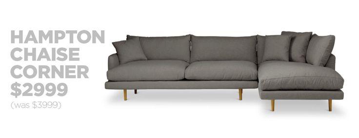 Hampton Chaise Corner Sofa Sale | LoungeLovers