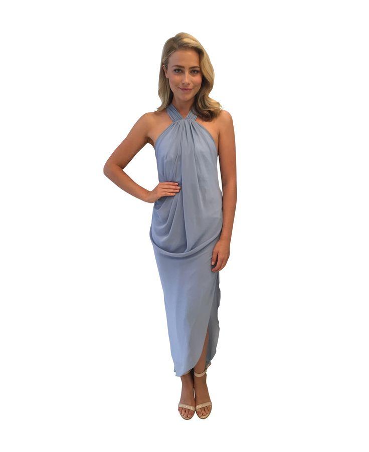 UNSPOKEN - Quartz Long Dress Dusty Blue