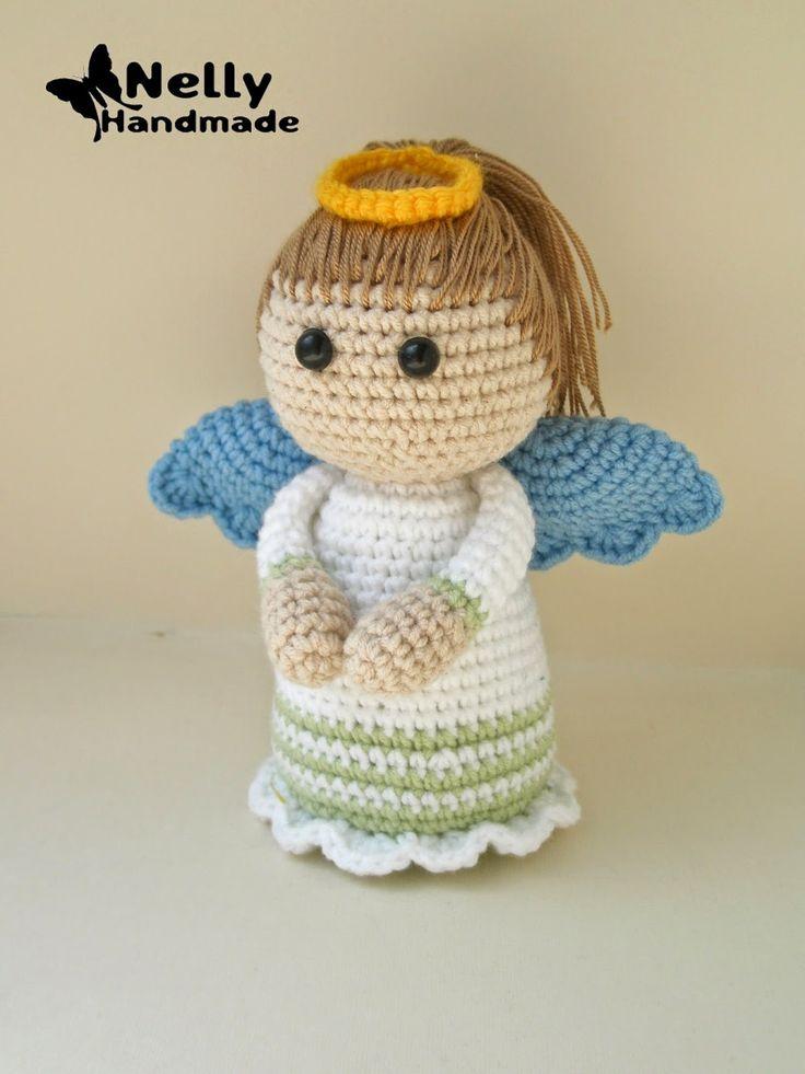 Nelly Handmade: #crochet, amigurumi, angel, x-mas, christmas, russian free pattern, #haken, gratis patroon (Russisch), engel, kerstmis, haakpatroon