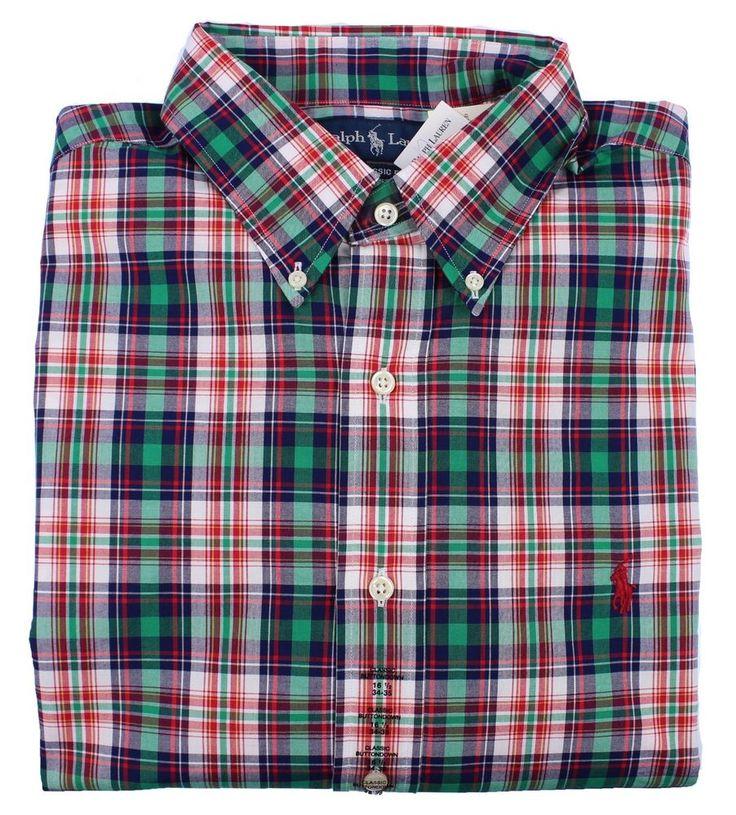 Polo Ralph Lauren Mens Classic Fit Shirt Long Sleeve Button Down Casual Dress #RalphLauren #ButtonFront