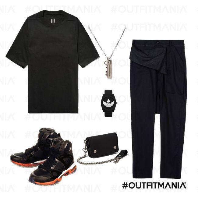 total black manwears: in da club | t-shirt max e pantaloni 5 tasche, orologio  adidas | #outfitmania #outfit #style #fashion #dresscode #amazing #balck #adidas #pants #rickowens | CLICCA SULLA FOTO PER SCOPRIRE L'OUTFIT E COME ACQUISTARLO