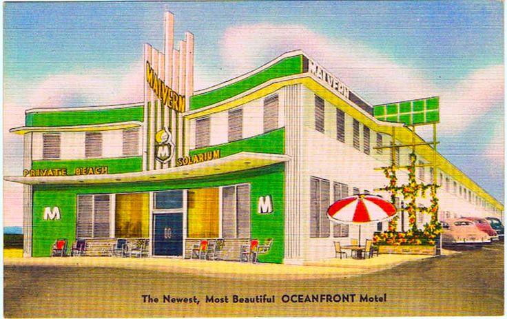 1940s Malvern MOTEL Miami Beach VINTAGE POSTCARD