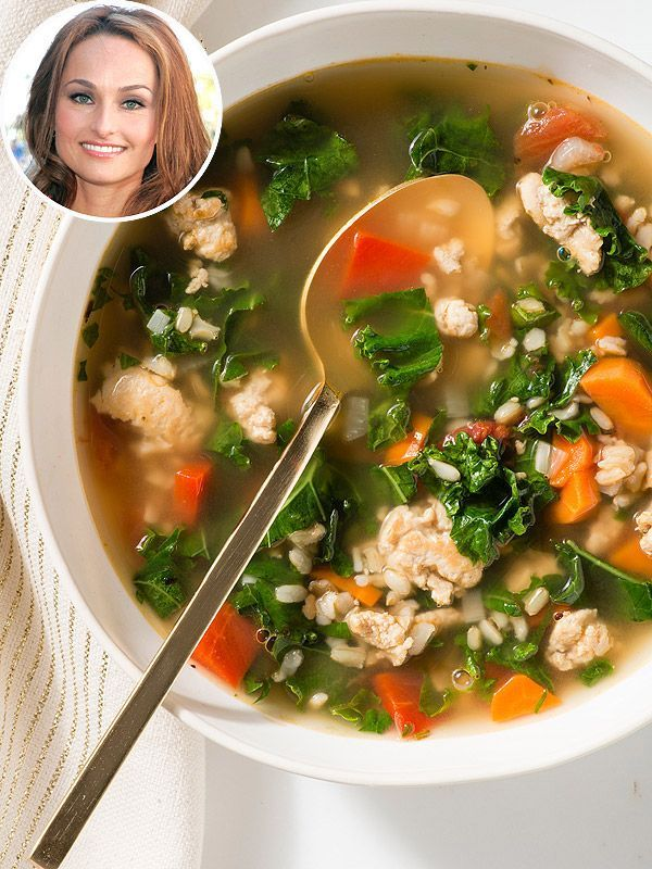 Giada De Laurentiis' healthy turkey-kale soup (the perfect recipe for Thanksgiving leftovers!)