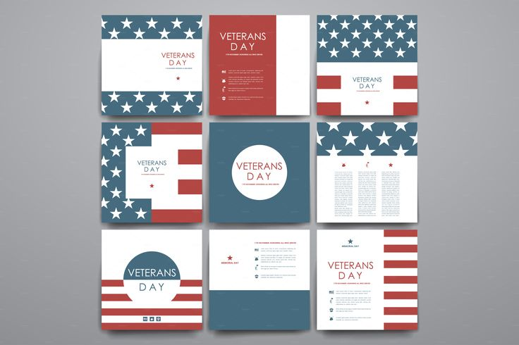 Veterans day. Card Templates by Palau on @creativemarket