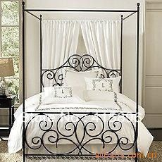 king size wrought iron canopy beds china