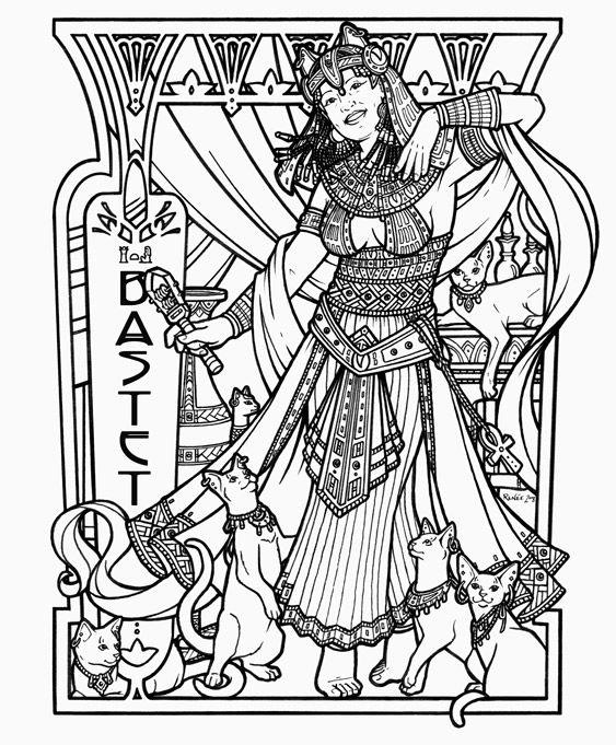 egyptian mythology coloring pages - photo#38