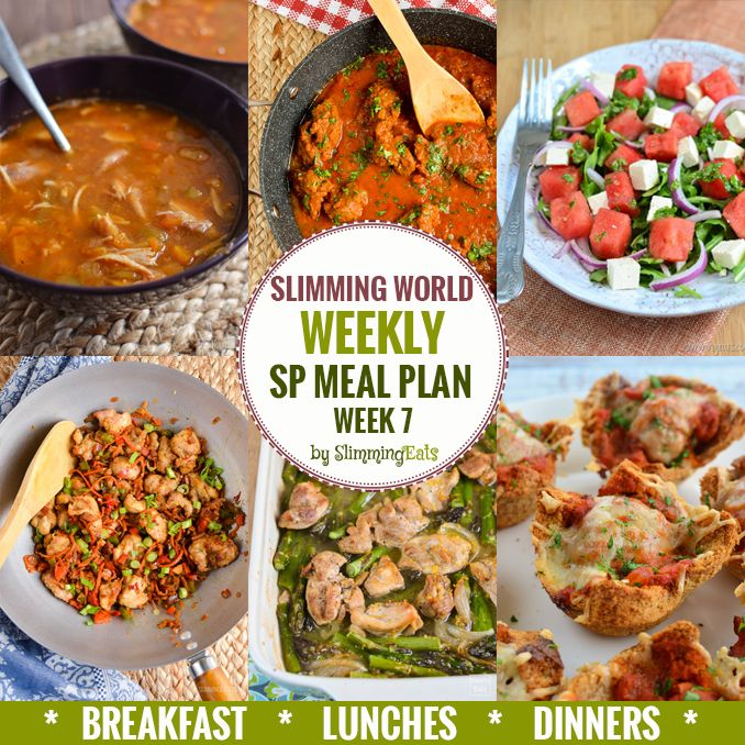 Slimming Eats SP Weekly Meal Plan - Week 7 - Slimming World - taking the work out of planning, so that you can just cook and enjoy the food.