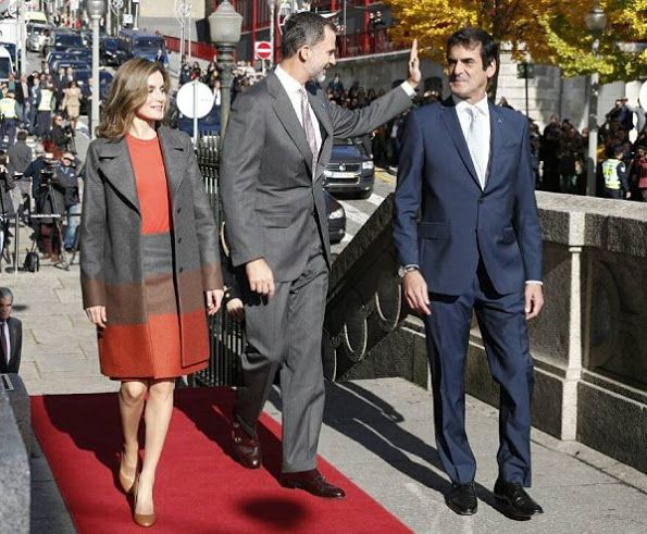 King Felipe and Queen Letizia of Spain visited the Science and Technology Park of the Porto University (UPTEC) in Porto, Portugal on November 29, 2016.