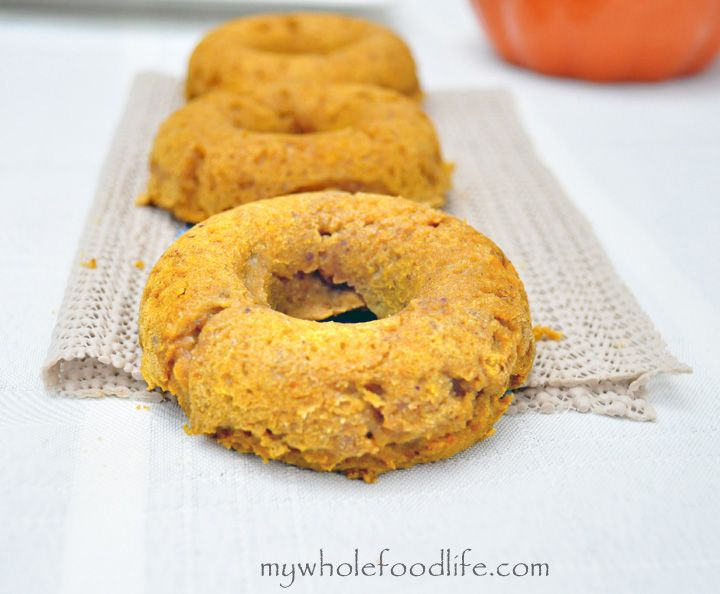 Gluten Free Pumpkin Donuts.  Taste the flavors of fall in your morning breakfast.  Vegan and no refined sugars.