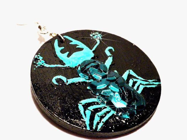 #painted, #earrings, #bugs, #scarab, #Brasil, #jewelry