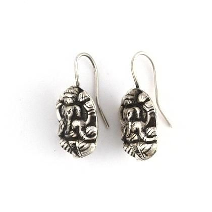 "Cercei indieni ""Ganesha"" argint  #metaphora #cercei #india #ganesha"