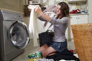 """TLC Home """"How to Shrink Clothes in the Wash"""" - great for items that are a bit too big or have gotten stretched out over time"""