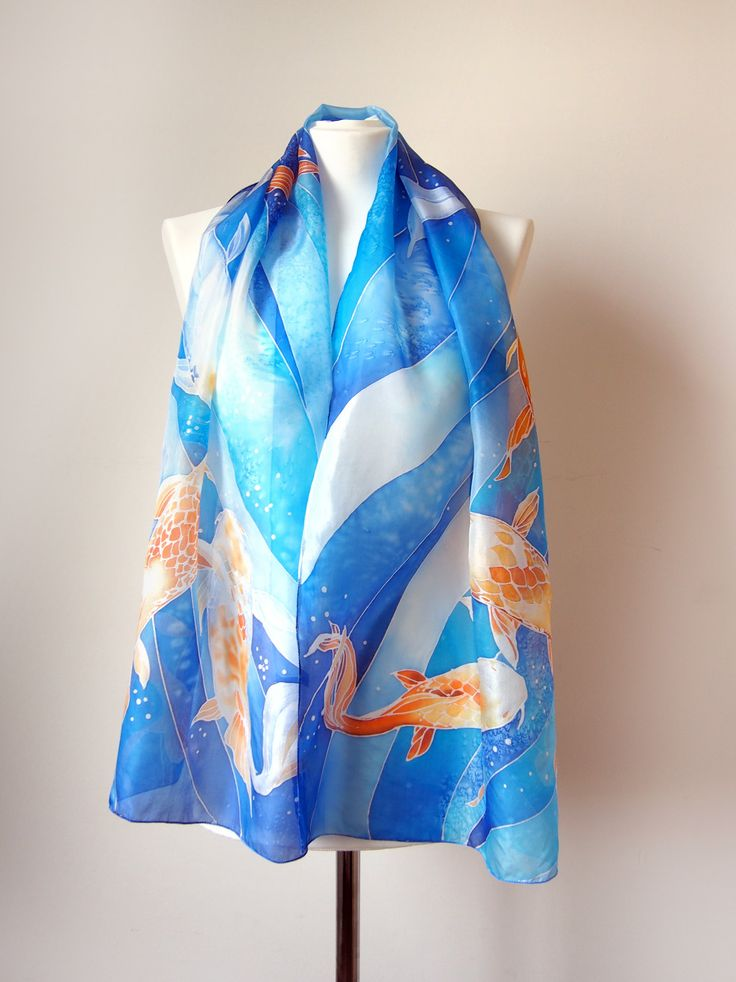 Cashmere Silk Scarf - Waters Secret Colors by VIDA VIDA 3Crvu