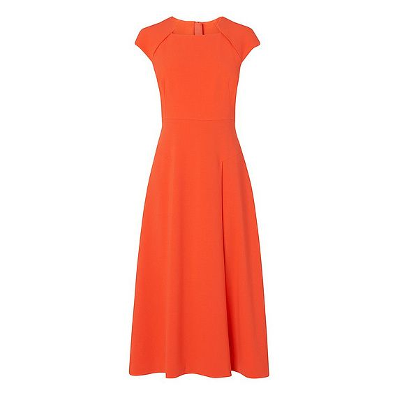 Elize Vermillion Midi Dress   New Arrivals   Clothing   Collections   L.K.Bennett, London