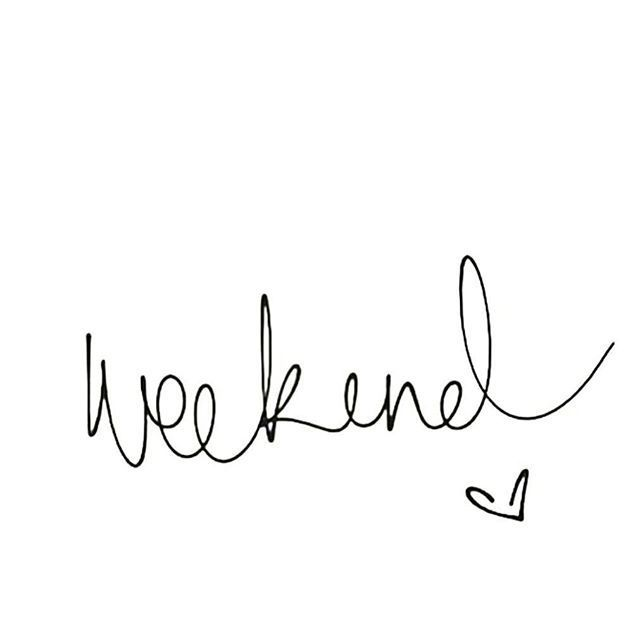 We're almost there guys, WEEKEND! :)