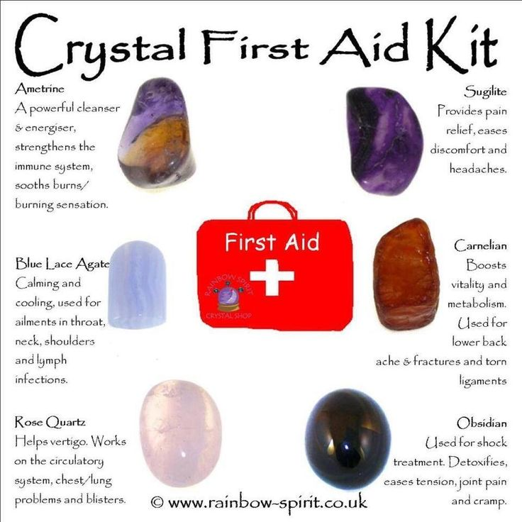 Rainbow Spirit crystal shop crystal healing first aid guide
