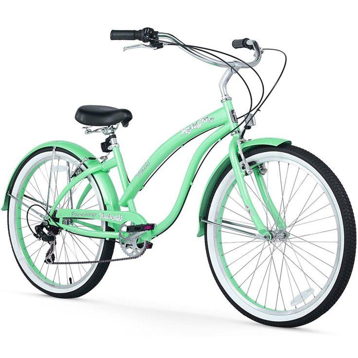 "26"" Firmstrong Bella Classic Seven Speed Women's Beach Cruiser Bicycle, Mint"