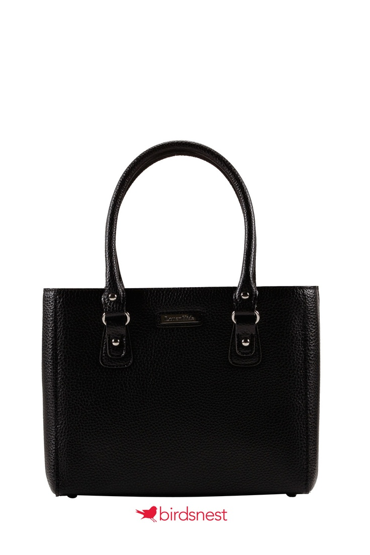 Keep it cool with a black hand bag for Corporate Girl chic.