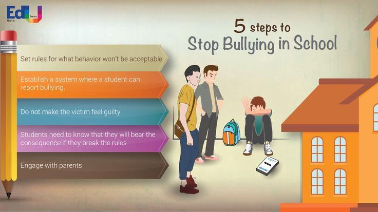 5 Steps to Stop Bullying in School #EdusenseNote