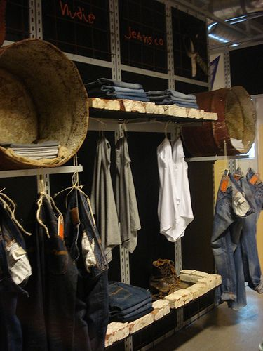 Nudie Jeans VM wall, pinned by Ton van der Veer
