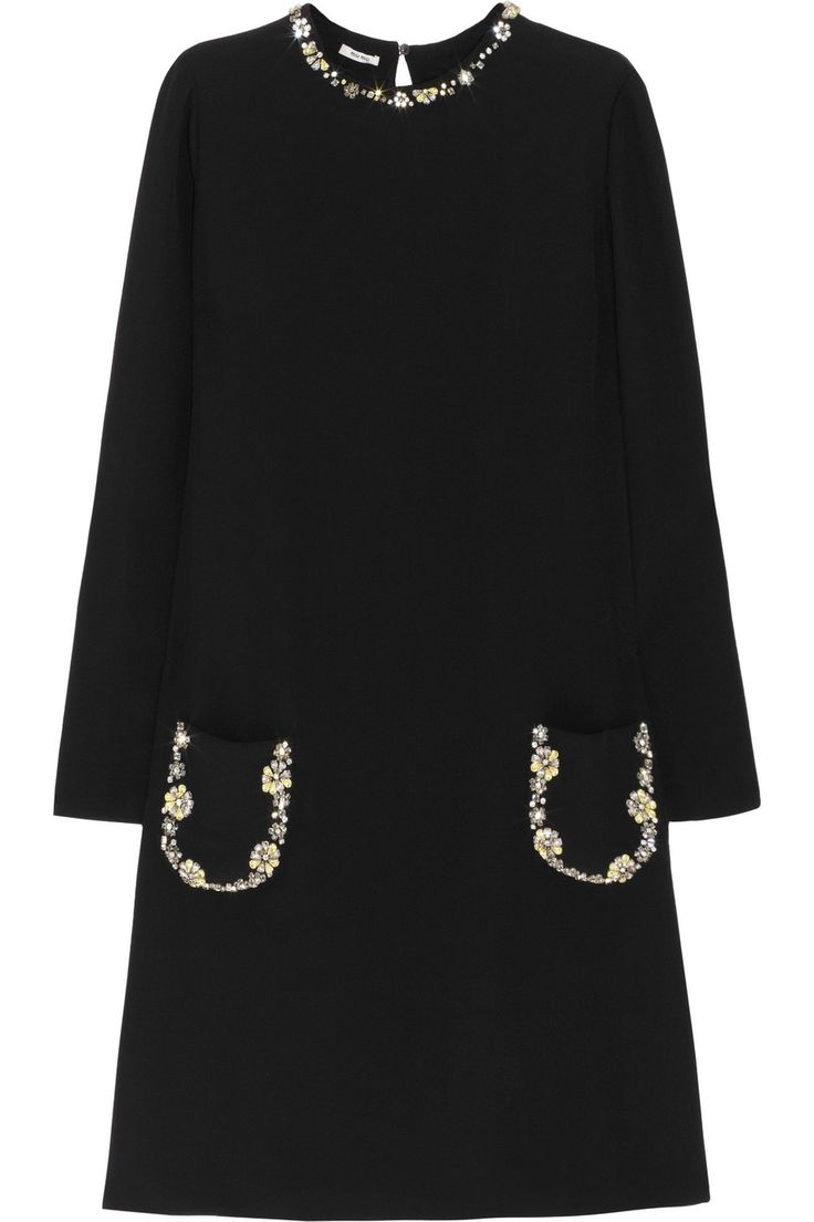 Miu Miucrystal-embellished crepe dress