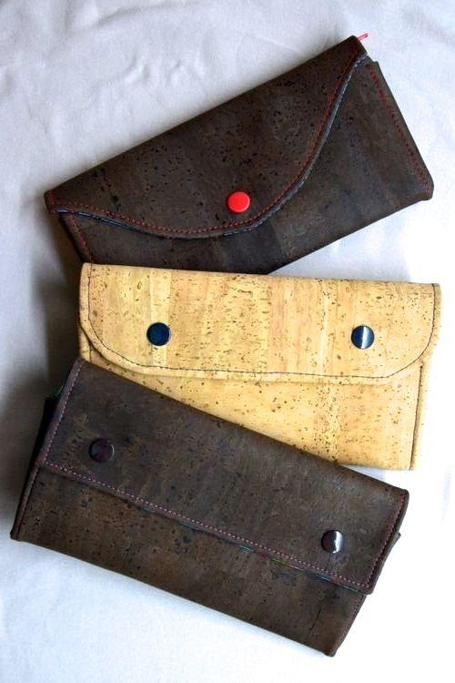 Verschiedene süße Taschen aus Korkleder - Anleitung im Link