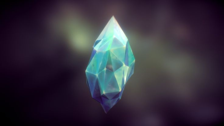 https://www.patreon.com/Ellalune<br>This is a crystal that I made in ZBrush and handpainted just to try out something new and fun.