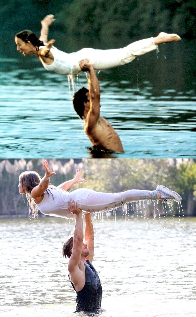 Bindi Irwin and Derek Hough Recreate Dirty Dancing's Iconic Water Lift Scene?Check Out the Adorable Pics! | E! Online Mobile