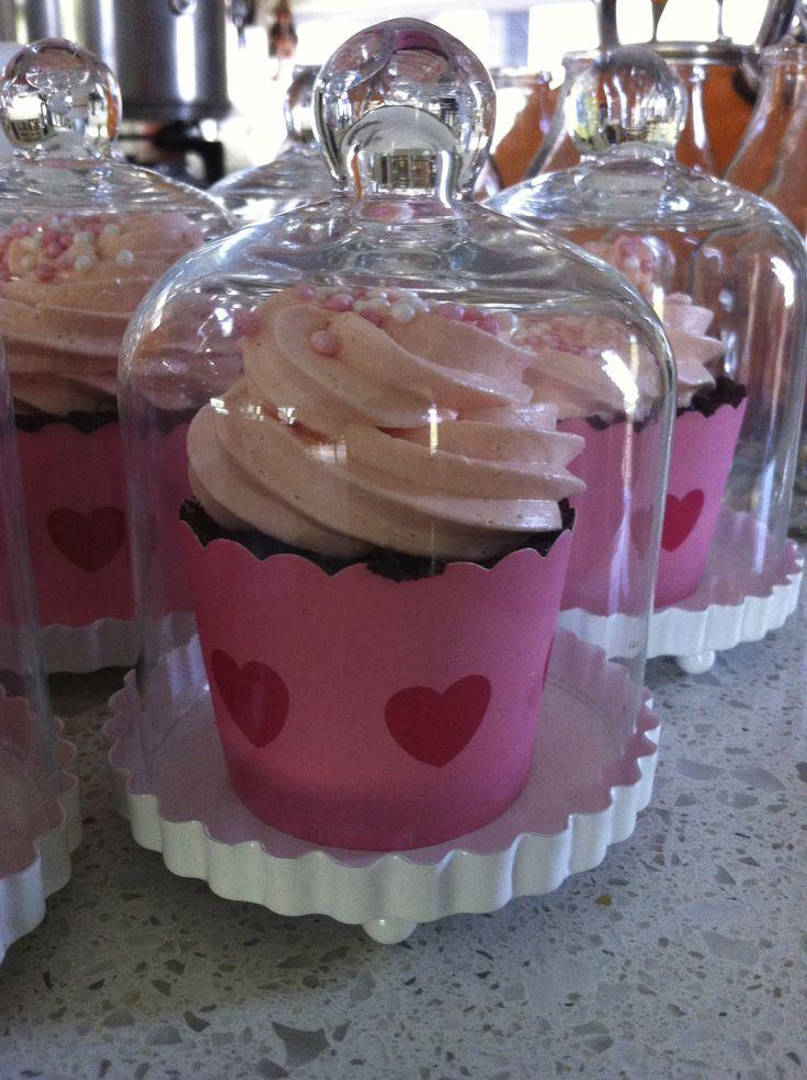 Red velvet cupcake with Italian buttercream