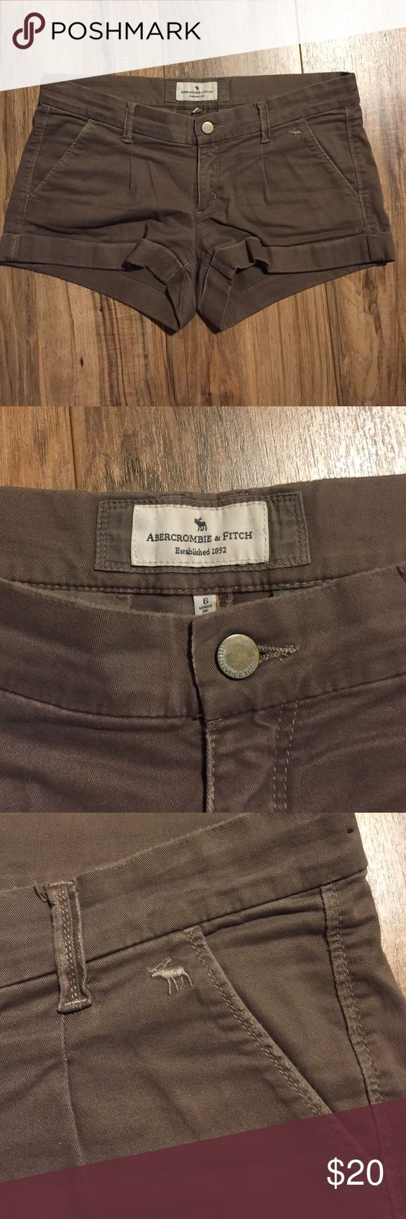 Abercrombie and Fitch shorts Soft cotton short. Can be dressed up or down. Vintage. Pretty coco color Abercrombie & Fitch Shorts Jean Shorts