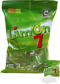Mexican Candy Limon 7 - Polvo de Sal y Limon - Salt & Lime powder - 100 pieces - 7 oz
