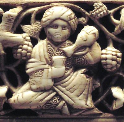 fig.11: Fatimid ivory frame, Museum of Islamic Art, Berlin, Detail