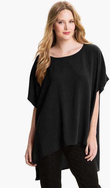 Eileen Fisher Black Silk Tunic