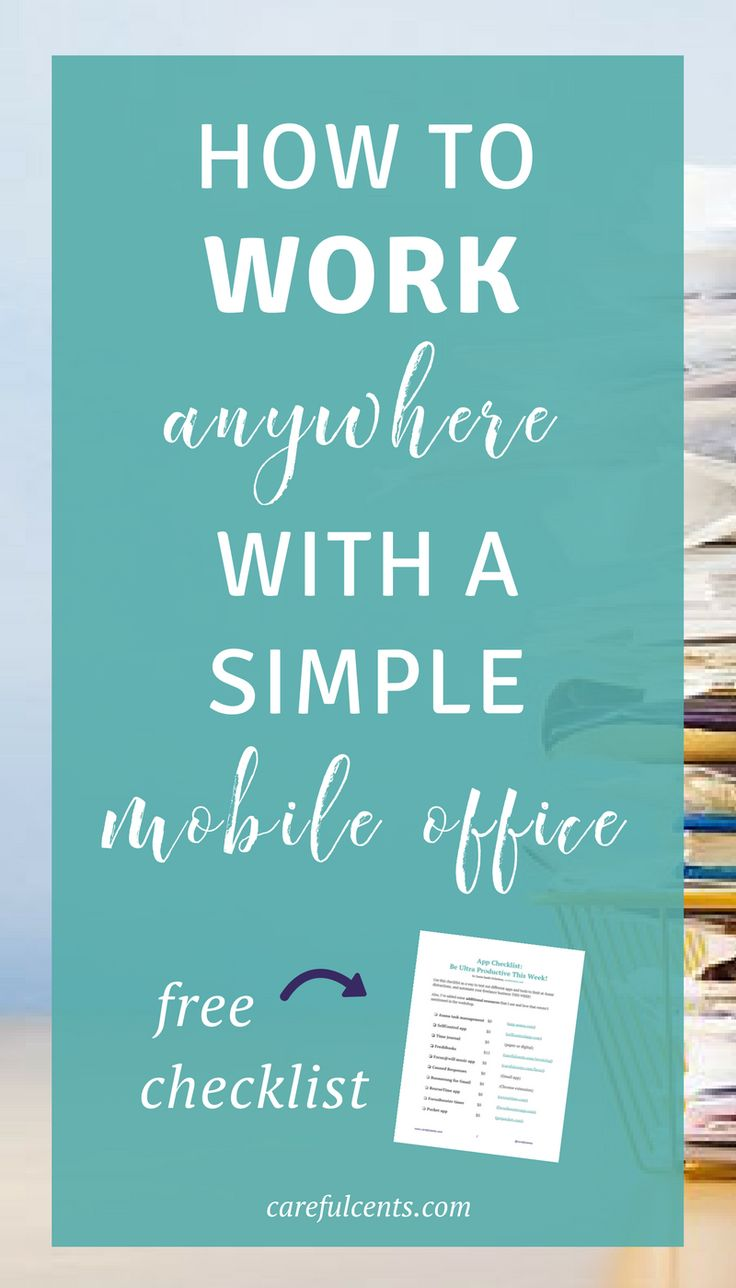 Learn how to work from anywhere by creating a mobile office that's simple and effective. Get the free checklist so you can create a portable office on the go as a location independent freelancer!