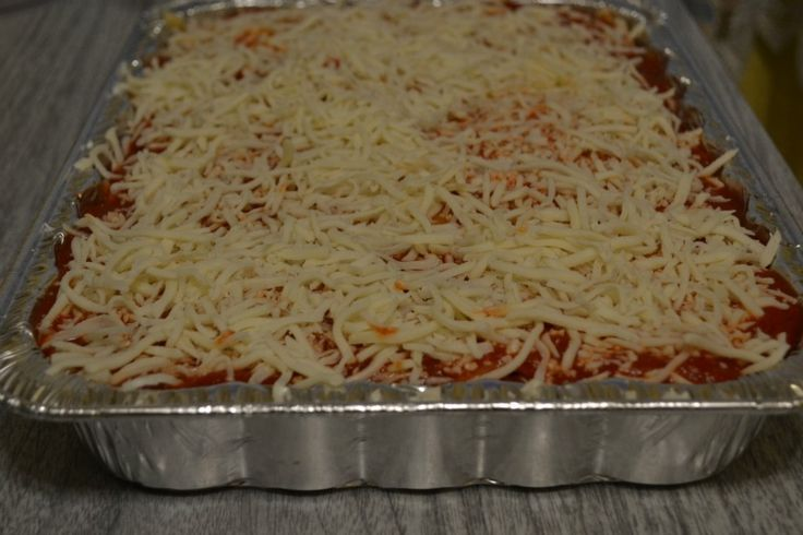 Basic lasagna recipe- make in batches and freeze for later. Also a great meal to give away to those in need.