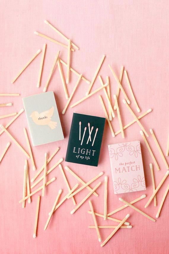 diy | matchbook wedding favor printables | repin via: brooklyn bride