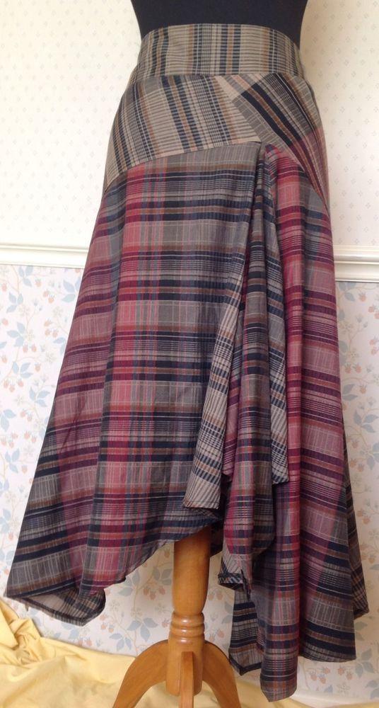 12 Tartan Plaid Quirky Asymmetric Long Skirt Bohemian Steampunk Bustle Kilt LARP in Clothes, Shoes & Accessories, Women's Clothing, Skirts | eBay