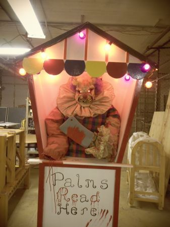 creepy clown booth
