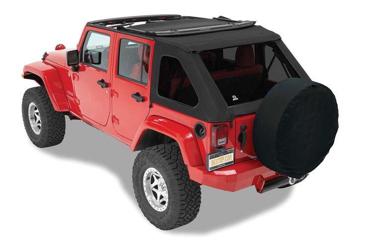 Bestop Trektop NX Twill Soft Top for 07-16 Jeep Wrangler Unlimited JK 4 Door